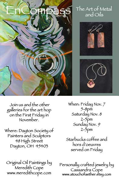 Dayton, OH art hop on November 7th, 8th, and 9th